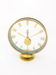 Jaeger-lecoultre 8-day Inline Movement Table Desk Clock From The 1960's