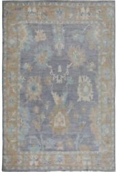 Muted Oushak Oriental Turkish Hand-knotted Area Rug Living Room Carpet 9x12