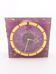 Stylish Space Age Lecoultre Table Clock With 8-day Movement From The Late 60's