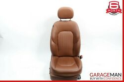 14-17 Maserati Ghibli Front Right Side Complete Seat Cushion Assembly Brown