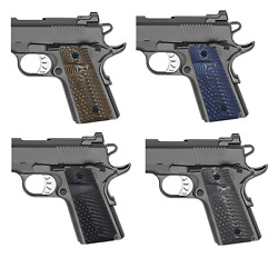 Grips For 1911 Compact / Officer - Custom G10 Dimple Texture - Select Color Ops