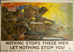 1918 Nothing Stops These Men Let Nothing Stop You By Howard Giles Wwi