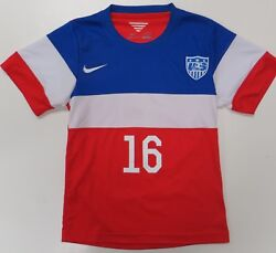 Nike Usa Soccer Bomb Pop Jersey Youth Large 16 Julian Green Red White Blue 2014