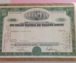 New England Telephone And Telegraph 50 Share Stock Certificate 1965