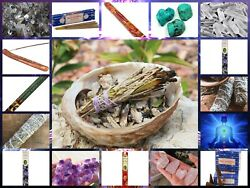 Lot Of 17 Altar Kit Witchcraft/wicca/spell Love Essential Items. And A Gift