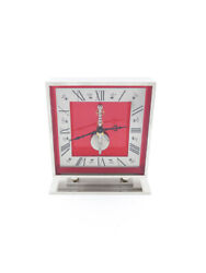 Lecoultre 8-day Inline Movement Table Desk Clock Made In The 50ies