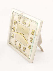 Omega Table Clock With 8 Day Movement In Pure Art Deco Design From 1931