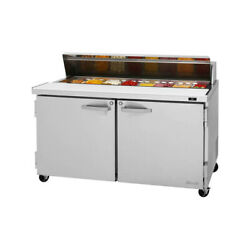 Turbo Air Pst-60-n 60 Two Section Sandwich / Salad Prep Table 16.0 Cu. Ft.