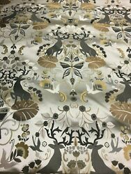 Classic Animal and Nature Print Damask Upholstery Fabric from India