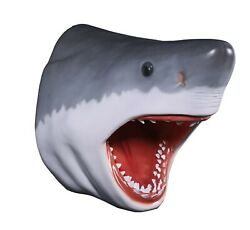 Great White Sharkand039s Head Wall Mount Trophy Sculpture Home Decor 30h