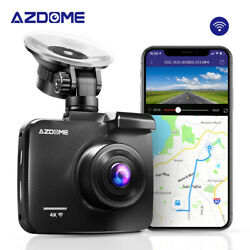 Azdome 4k Ultra Hd 2160p 4k Car Dash Cam Built-in Wifi And Gps Night Vision