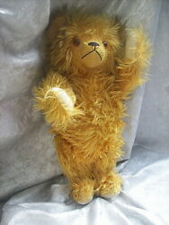 Actress Jane Withers Estate 20 Golden Amber Extra Long Mohair Bear W/ Pull Cord