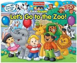 Fisher Price Little People Let#x27;s Go to the Zoo Board book GOOD