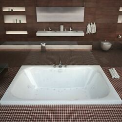 Atlantis Whirlpools 4060ndr Neptune 40 X 60 Rectangular Air And Whirlpool Jette...