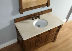 Brookfield 48 Single Cabinet W/drawers Country Oak With 3 Cm Galala Beige ...