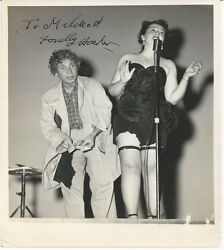 Marx Brothers Harpo Rare Autograph Signed Vintage Photo 1951, Psa Certified