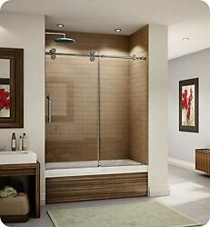 Fleurco Kt057-35-40l-dy Kinetik 57 Sliding Tub Door Left And Fixed Panel In B...