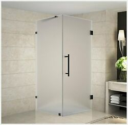 Aston Aquadica 36 X 36 X 72 Completely Frameless Square Hinged Shower Encl...