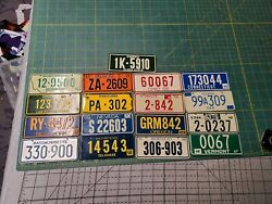 17 Vintage 1968 Wheaties Cereal Mini Bicycle License Plate 1960s Metal Usa State