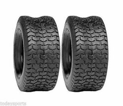 Two 18x6.50-8 Lawn Tractor Turf Riding Lawn Mower Garden Tractor Tires 18x650-8