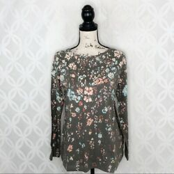 Pure Jill Floral Boat Neck Top NWT $79 - Women's Size SP