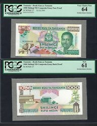 Tanzania Essay Face And Back 1000 10-10-1991 P27p Proof Uncirculated