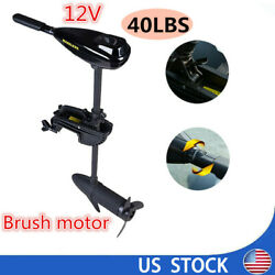 40lbs Thrust Electric Trolling Motor 12v Outboard Engine Fishing Boat Motor Usa