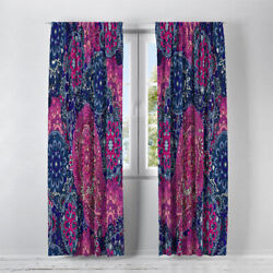 Bold Paisley Lined Window Curtains