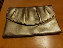 Metalic Gold Clutch handbag Party Cocktail Special occasion $9.99