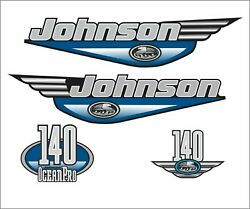 Andnbspjohnson 140 Hp Outboard Reproduction Decals