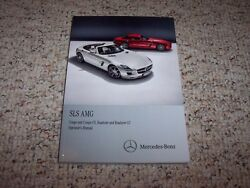 2013 Mercedes Benz Sls Amg Coupe Roadster Gt Owners Ownerand039s Operators Manual