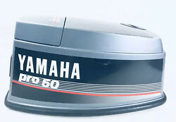 Yamaha Pro 50hp 2-stroke Outboard Motor Hood Top Cowling Cover Assembly 1989