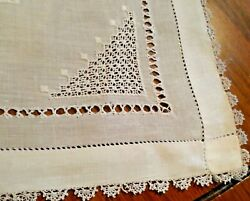6 Impressive, Lge Square, Vintage, Embroidered, Cutwork And Lace Linen Doilies