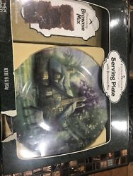 Thomas Kinkade Painter Of Light Serving Plate With Brownie Mix