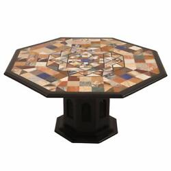 36 Marble Center Kitchen Table Top Inlay Pietra Dura Work Art With Marble Stand