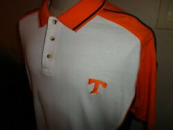 Vtg 90's Starter Tennessee Volunteers NCAA Embroidered Polo Shirt Sz L Loose Fit $23.66