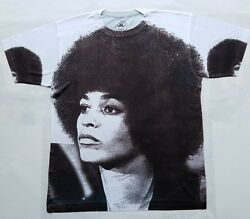 Angela Davis T Sublimated shirt black panther power Huey newton civil rights