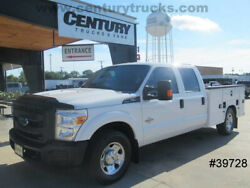 2016 FORD F250 CREW CAB UTILITY BED SERVICE BODY WORK TRUCK FLIP TOP BINS