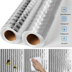 Self Adhesive Oil proof Aluminum Foil Removable Wall Sticker For Kitchen Cabinet