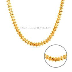 22k 20k Yellow Gold Genuine Indian Handmade Style Necklace Durable Chain Unisex