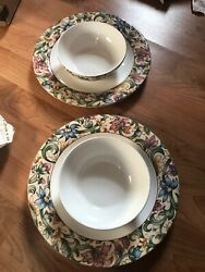Royal Doulton Everyday Jacobean 2 Cereal Bowl And 2 Dinner Plate And1 Salad=5pcs
