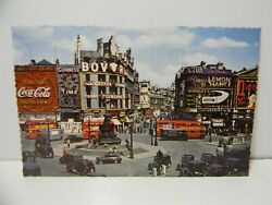 Vintage 1950s Coca Cola Sign Piccadilly Circus London England Postcard P22