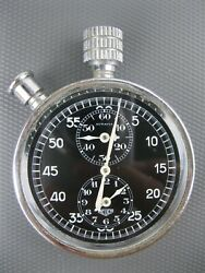 Heuer Autavia Vintage First Clock Dashboard Cars And Aircraft Dash Mounted Swiss