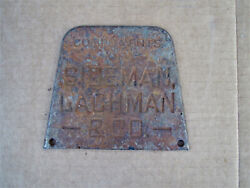 Antique 1880's Sideman Lachman And Co. Cigars Advertising Sign Metal 5 Counter Ad