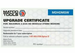 Matco Tools Software Update For Mdhdm Linked To Mdmax2, Mdmax3 And Mdmax3hd