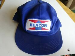 Vintage Beacon Feeds Sewn On Patch Made In The Usa Trucker Hat Snap