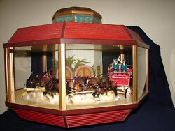 Vintage Budweiser Clydesdale Octagon Carousel Rotating Light