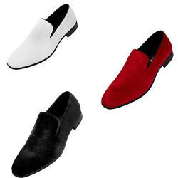 Men's Paisley Embossed Velvet Dress Shoes Comfortable and Easy Slip-On Design $39.99