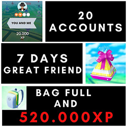 Pokemon Go - Easy To Get 520000xp - 20 Friend To Great