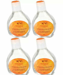 4 Pack Ky Touch 2-in-1 Warming Oil And Personal Lubricant 148ml Each Discret Ship